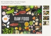 60 Isolated Raw Food Images