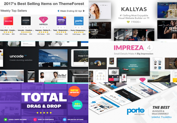 ให้ Top 5 Best Selling WordPress Theme 2017 จาก ThemeForest Vol. 3